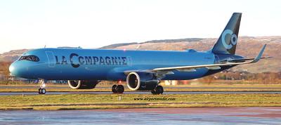 F-HNCO A321-252NX LA COMPAGNIE @ Glasgow airport (EGPF)