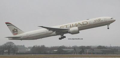 A6-ETM B777-3FX(ER) ETIHAD @ Glasgow Airport (EGPF)