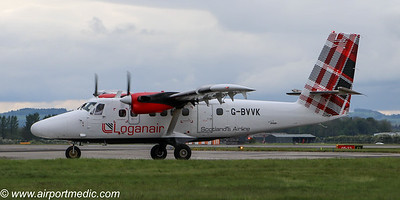 G-BVVK DHC6 LOGANAIR @ Glasgow Airport (EGPF)