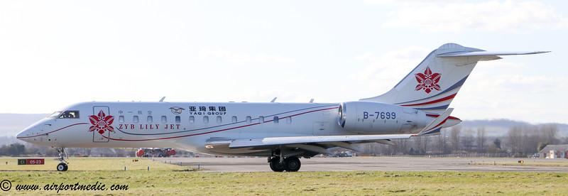 B-7699  Bombardier BD-700-1A10 Global Express @ Glasgow Airport (EGPF)