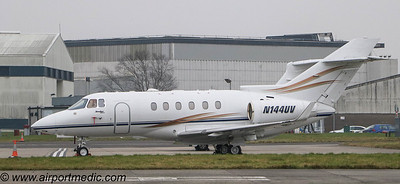 N144UV Hawker Beechcraft Corp Hawker 900XP @ Glasgow (EGPF)