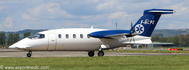 F-HCPE Piaggio P180 Avanti Pan Europeenne Air Service @ Glasgow Airport (EGPF)