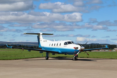HB-FMX PC12 Pilatus Aircraft @ Glasgow Airport (EGPF)
