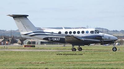 G-GMAF BE200 GAMA Aviation @ Glasgow (EGPF) 01/04/2021