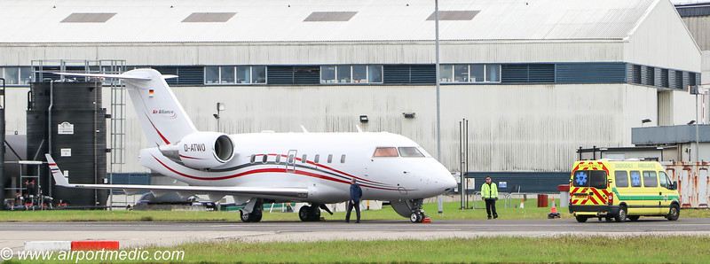 D-ATWO CL604 MedCare Professional @ Glasgow Airport (EGPF)