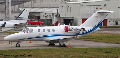 9H-GIO Cessna 525 CitationJet @ Glasgow (EGPF) 05.03.2020