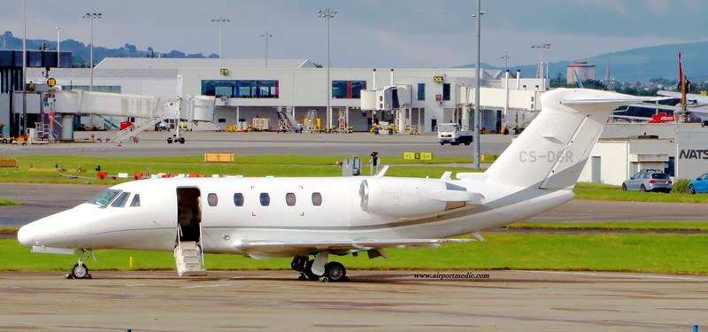 CS-DGR Cessna Citation 650 Airjetsul Aviation @ Glasgow Airport (EGPF)