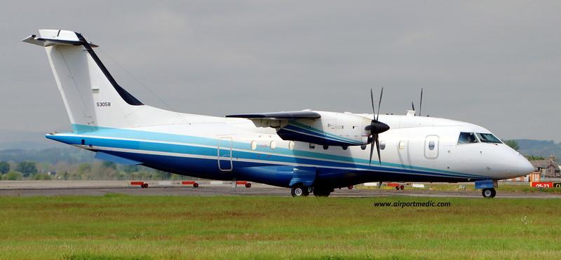 95-3058 Dornier 328-100 C-146A USAF @ Glasgow (EGPF) 27/05/2021