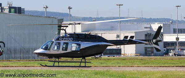 G-PTOO Bell 206L-4 @ Glasgow Airport (EGPF)