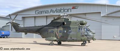 XW220 Puma SA.330 HC.2 R.A.F @ Glasgow Airport (EGPF)