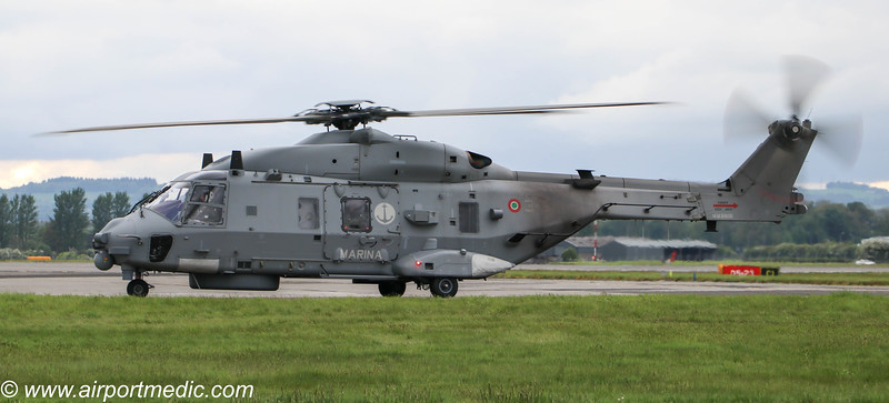 MM81606/3-31 SH-90A Italian Navy @ Glasgow Airport (EGPF)