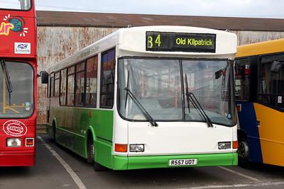 Glasgow Citybus R557UOT Depot Glas Mar 10