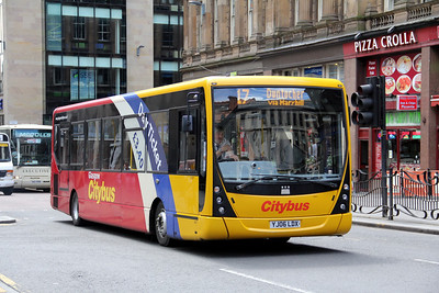 Glasgow Citybus YJ06LDX Hope St Glas Jul 11