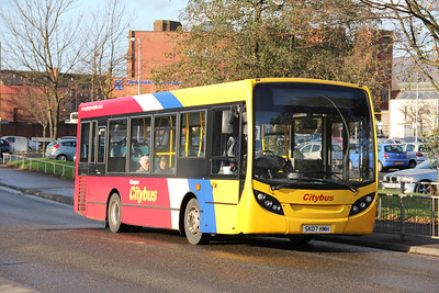 Glasgow Citybus SK07HMH Chalmers St Clydebank 1 Nov 11