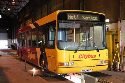 Glasgow Citybus Y801YBT Depot Glas Mar 10
