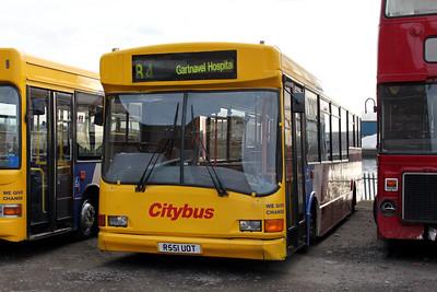 Glasgow Citybus R551UOT Depot Glas Mar 10