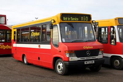 Glasgow Citybus W173CDN Depot Glas Mar 10