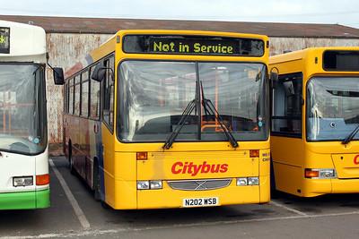 Glasgow Citybus N202WSB Depot Glas Mar 10