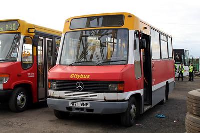 Glasgow Citybus N171WNF Depot Glas Mar 10