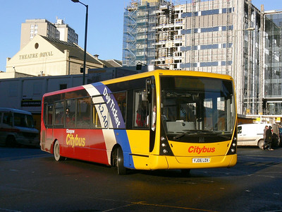 Glasgow Citybus YD06LDX Renfrew St Glas Dec 08