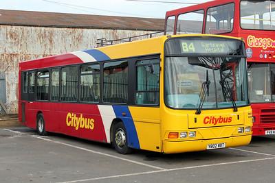 Glasgow Citybus Y802YBT Depot Glas Mar 10
