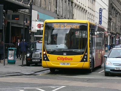 Glasgow Citybus YJ06LDX Union St Glas Mar 09
