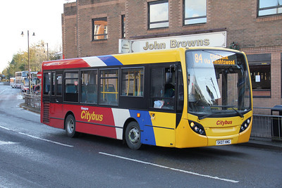 Glasgow Citybus SK07HMG Chalmers St Clydebank Nov 11