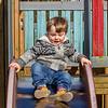 Boy on slide, Glasgow