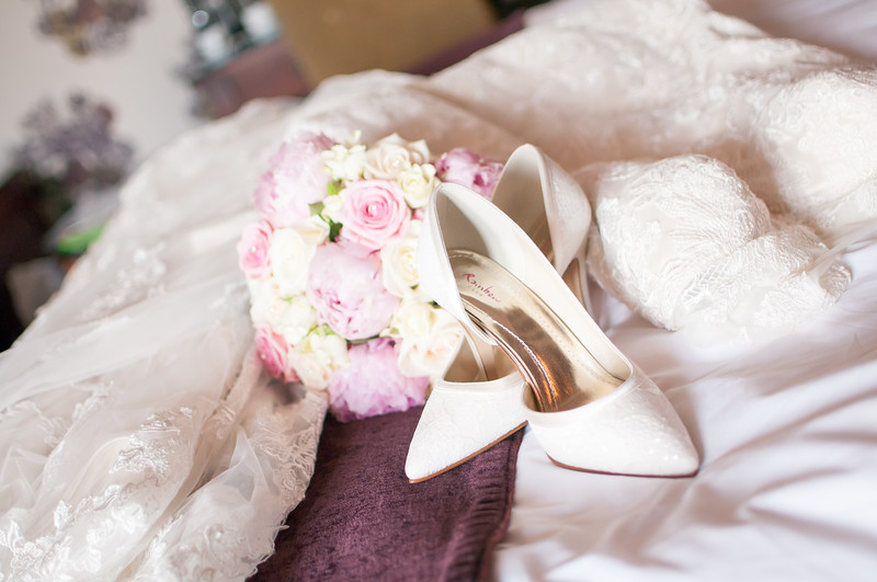 The Dress, Shoes & Flowers