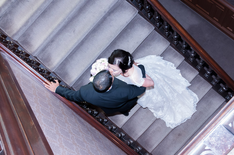 Kissing on the Stair