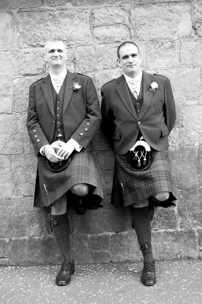The Handsome Groom and His Best Man