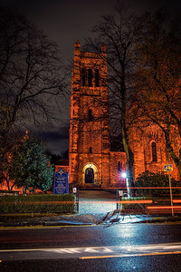 St. Margarets Episcopal Church, Newlands Tonight lit red for Remembrance Day