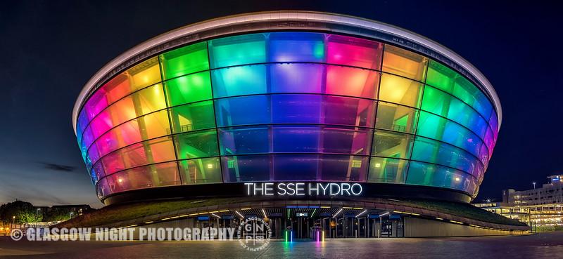 SSE Hydro lit for Glasgow Pride weekend