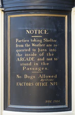 Notice in Argyll Arcade, Glasgow.