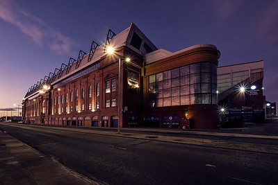 Ibrox, in a warm glow of a Christmas Eve sunset