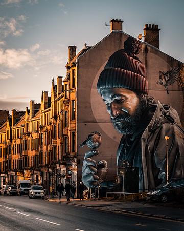 Glasgow Mural from artist Smug