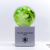 """<p></p> <h1 style=""""margin:0px;""""><font size=""""4""""><b>The Joey Cohen Award</b></font></h1> Swirling colours and air bubbles move within this glass globe, fitted atop an engraved aluminum base.  <i><a href=""""/Custom/Awards-and-Commissions/"""" target=""""_blank"""" title=""""Awards and Commissions - Kelly Lowe Glass."""">Click here to go to the awards and commissions information page (link opens in a new window</a></i>  <i><a href=""""/Glass/Awards/"""" title=""""Awards Sample Gallery"""">If you are not on my main gallery of sample custom awards, click here to return there now</a></i>"""