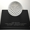 "<p></p> <h1 style=""margin:0px;""><font size=""4""><b>VON Masters"" Golf Tournament Award</b></font></h1> A sculpted sphere of glass dimpled to represent a golf ball sits atop an engraved slate base.  <i><a href=""/Custom/Awards-and-Commissions/"" target=""_blank"" title=""Awards and Commissions - Kelly Lowe Glass."">Click here to go to the awards and commissions information page (link opens in a new window</a></i>  <i><a href=""/Glass/Awards/"" title=""Awards Sample Gallery"">If you are not on my main gallery of sample custom awards, click here to return there now</a></i>"