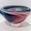 "Opaque ""Misty"" Bowl:<br /> <br /> In this style of bowl the goal is flowing, gaslike mixtures of colours across the outer surface. While there may be spaces of translucent colour, the piece is generally opaque and provides a different view from each angle around the bowl."