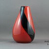 "Pin Hole Vase:<br /> <br /> A simple splash of solid colour on a solid coloured base adorn this style of vase, with a much smaller than normal opening at the top to showcase a few, or even a single, flower.<br /> <br /> Base to top: Approx 13.5cm (5.3"")<br /> Widest point: Approx 8.5cm (3.35"")<br /> Opening: Approx 2cm (0.8"")<br /> Weight: Approx 556g (1.25 lbs)"