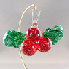 "<p></p> <h1 style=""margin:0px;""><font size=""4""><b>Hanging Glass Holly Ornaments</b></font></h1> Never wilting, fading, or poisoning the cat, this hand sculpted glass holly has all sorts of advantages over the real thing. Not to mention that it's 100% hand sculpted and made without the use of any molds or other such aids, or that it hangs nicely on a Christmas tree, doorways, or anywhere else you might fancy.  Width: Approx 11cm (3.35"") Height: Approx 6cm (2.35"") Depth: Approx 4.5cm (1.75"") Weight: Aand pprox 125g.  *Note: As these pieces are fully handmade each piece is unique in its and size and shape, and as such the above measurements should be taken only as an average.  <i>This piece is available in my Stoney Creek <a href=""/Site-Stuff/Contact/"" target=""_blank"">studio gallery</a>, my <a href=""http://store.kellyloweglass.com"" target=""_blank"">online store</a> (<a href=""http://store.kellyloweglass.com/ornaments/glass-holly-ornament/"" target=""_blank"">direct item link</a>) and in many local galleries. If you're interested in larger/custom orders, please <a href=""/Site-Stuff/Contact/"" target=""_blank"">contact me</a> and I'm sure we can work something out.</i>  <i><a href=""/AvailablePieces/Ornaments/"" target=""_blank"">Click here to be taken to a gallery of all my various ornament types (link opens in a new window)</a></i>"