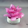"<p></p> <h1 style=""margin:0px;""><font size=""4""><b>Sculpted Glass Flowers</b></font></h1> These hand sculpted glass flowers come in a variety of colours (or can be custom made in the colour of your choice), and are fully handmade from start to finish - including the glass base.              These pieces are extremely time consuming and difficult to create. The flower slowly takes shape as small bits of molten glass are brought from the furnace, attached to the piece, and then hand sculpted into the shape of a single petal. The end result is a single piece of glass sculpture in the shape of a flower: a unique, delicate looking piece of glass art that will never wilt, never needs watering, and will last a lifetime.  <i>Measurements</i>:  Height: Approx 8.5 cm (3.35"") Width: Approx 10cm (3.93"") Weight: Approx 444g (0.98 lbs)  *Note: As each glass flower (each individual flower petal as well!), is hand sculpted some variation in size is to be expected. The measurements above should be considered an average, with most pieces being slightly above or below these figures.  <i><a href=""/AvailablePieces/Ornaments/"" target=""_blank"">Click here to be taken to a gallery featuring more examples and designs of glass flowers (link opens in a new window)</a></i>"
