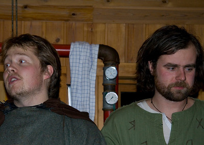 Torfi og Elli ávarpa söfnuðinn.