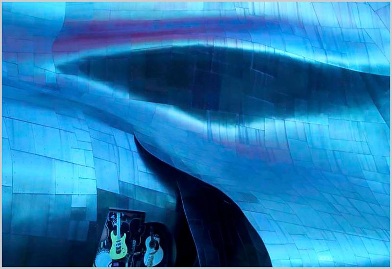 "Print title:  ""  Jimi's Guitars ""  2013 / File # Sea_0019"