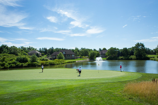 Course  - with golfers