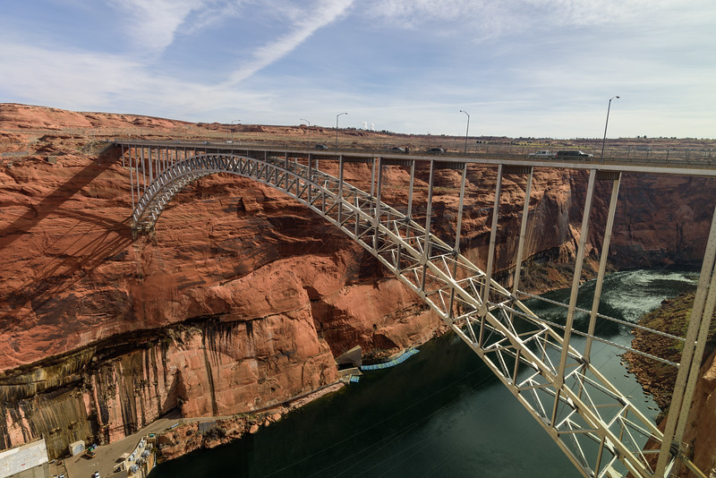 Hwy 89 bridge ... a stones throw from the Glen Canyon Dam.