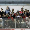 Glen Rock fans reacts to the first goal vs. Brick.  More than 50 Glen Rock students made to trip to Brick to cheer on the Panthers.