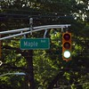 New stoplight at Maple and Glen