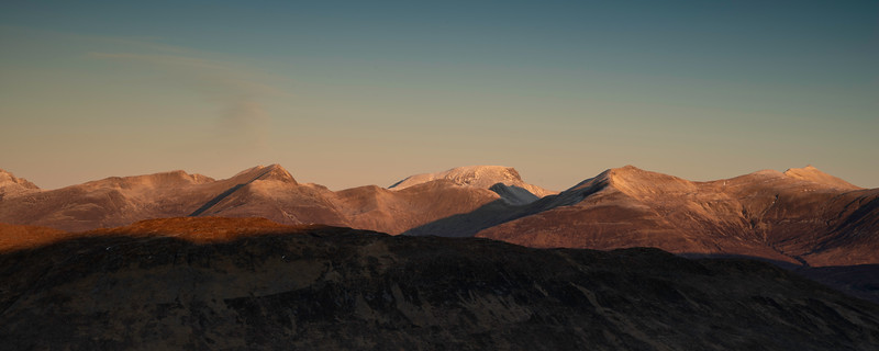 view from Glencoe looking towards Ben Nevis.