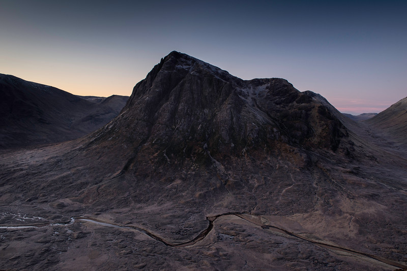 Buachaillie Etive Mor mountain at sunrise.